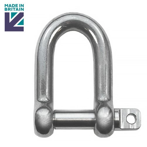 Stainless Steel D Shackle - Marine Grade 316