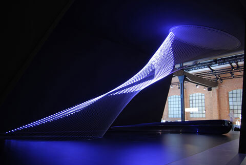 Zaha Hadid Wire Sculpture for Swarovski Crystal