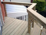 Wire balustrade preserves beautiful views