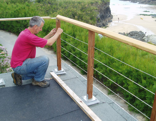Balustrade Cables As Installed At Trevone Cornwall As
