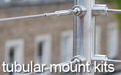 Balustrade Wire Kits - Tubular Mount
