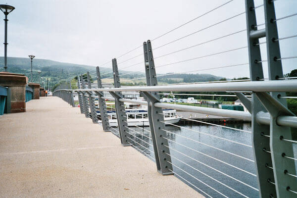 Balloch Bridge Tensioned Cable Balustrade S3i Group