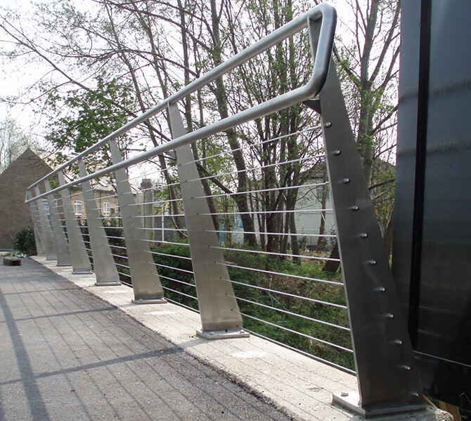 Enfield Foot Bridge Cable Railing