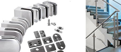 Stainless Steel Glass Clamps And Fittings