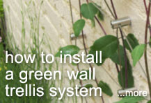 How to install our Green Wall Trellis system