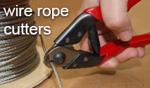 Wire rope cutters - ideal for use with our Posilock range