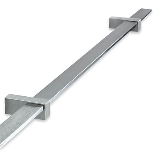 Stainless Steel Flat Handrail with Brackets