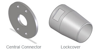 Structural Tie Bar Central Connectors and Lockcovers
