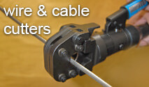 Wire & cable cutters for all sizes of wire rope