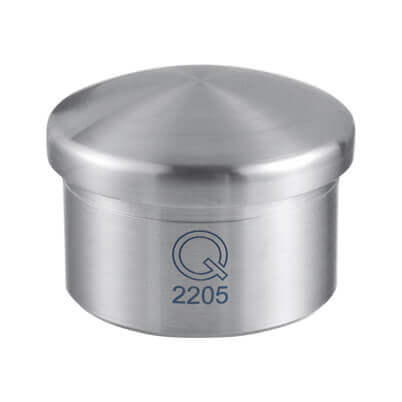 Ultra Resistant Stainless Steel Bevelled Tube End Cap