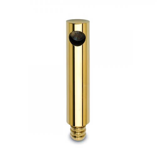 End Post - Flush Wood Mount - 10mm Bar Rail - Brass Finish