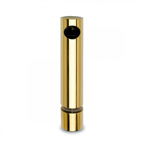 End Post - Glass Mount - Brass Effect - 10mm Mini Rail