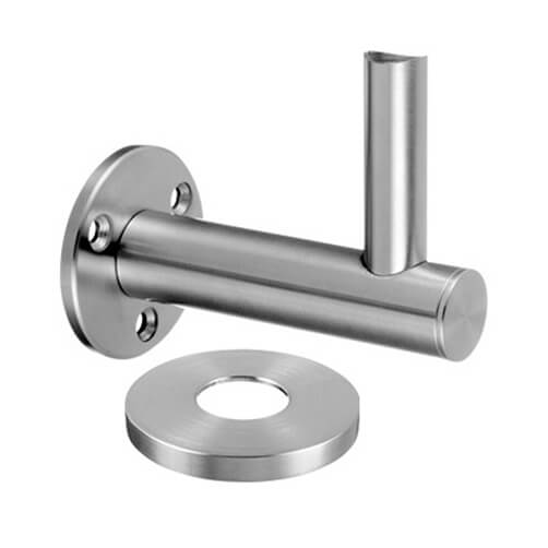 Flush Fixing Handrail Plate Bracket with Cover Cap