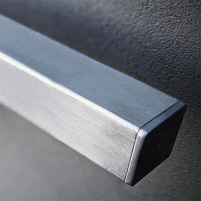 Stainless Steel Square Balustrade End Cap - Flat Example