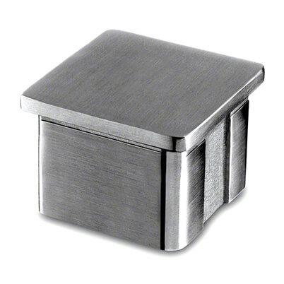 Stainless Steel Square Balustrade End Cap - Flat