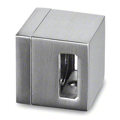 Square Cross Bar Holder, Through Hole End Piece, Flat - Bar