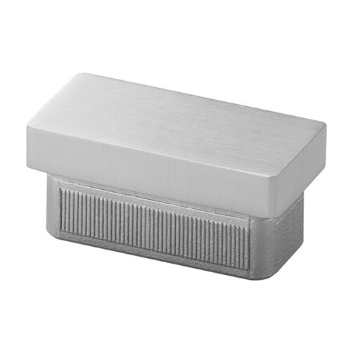 60x30mm Profile End Cap - Stainless Steel