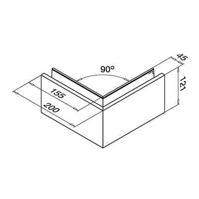 Outer Corner Mounting Profile Diagram