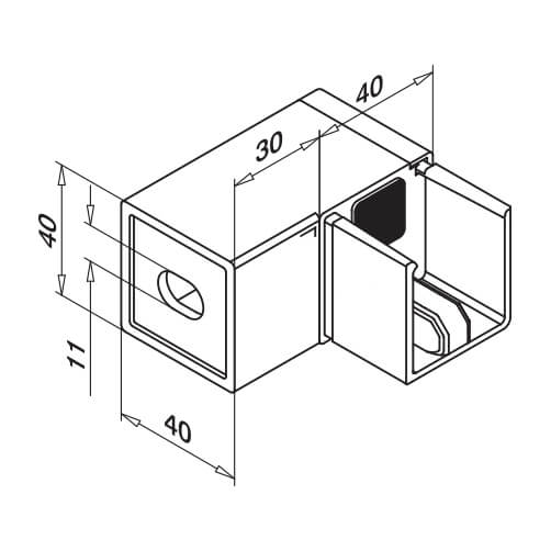 Juliet Balcony Stainless Steel Square Wall Flange Diagram