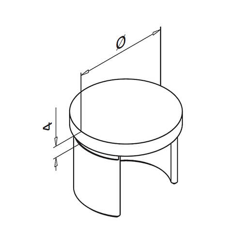 Round Handrail End Cap For Glass Channel Balustrade Diagram