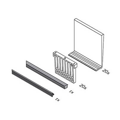 Glass Channel Balustrade Rubber Insert & Wedge Kit Content