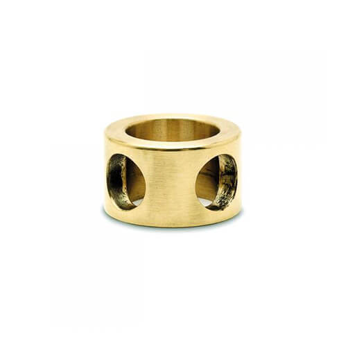90 Degree Post Adapter - 6mm Bar Rail - Brass Finish