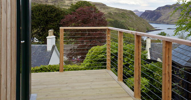 Stainless Steel Deck Wire Balustrade - Scotland