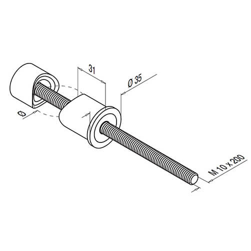 Stainless Steel Balustrade Baluster Post Bracket - Diagram