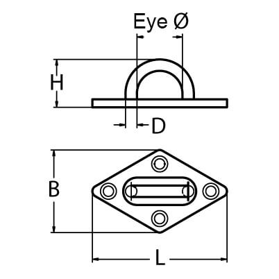 Diamond Pad Eye Deck Plate Diagram