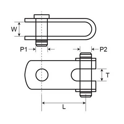 Double Jaw Toggle 316 Marine Grade Diagram