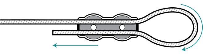 Duplex wire rope clip - making a loop