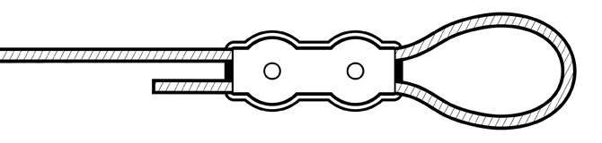 Duplex wire rope clip - fixing plate