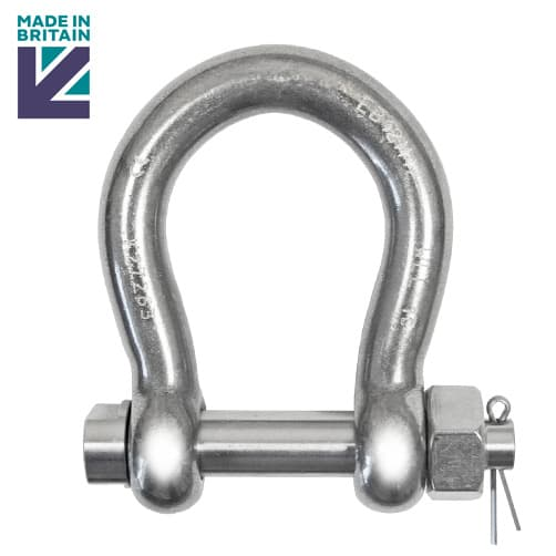 Bow Shackle, Marine Shackle, fasteners 2x 12mm Bow Shackle Stainless Steel