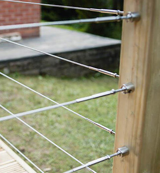 Wire Balustrade Kits - Flat Mount
