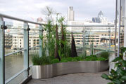 Large Stainless Steel Balcony Planters