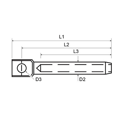 Lifeline Terminal - Guardrail Fitting - Dimensions