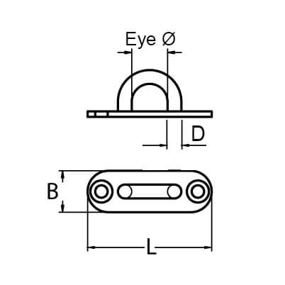 Long Pad Eye Deck Plate Diagram