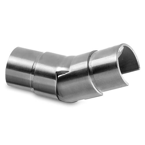 Upward Adjustable Handrail Connector For Glass Channel Balustrade