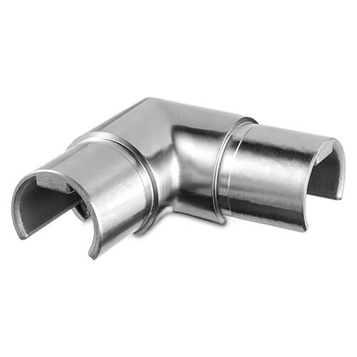 Corner Handrail Connector For Glass Channel Balustrade Diagram
