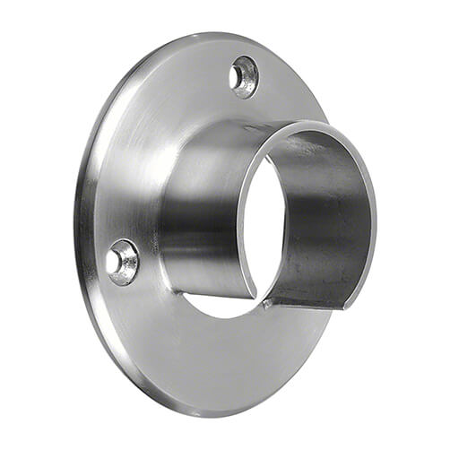 Wall Flange Handrail Connector For Glass Channel Balustrade