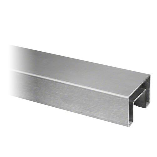 Rectangular Stainless Steel Handrail For Glass Channel Balustrade