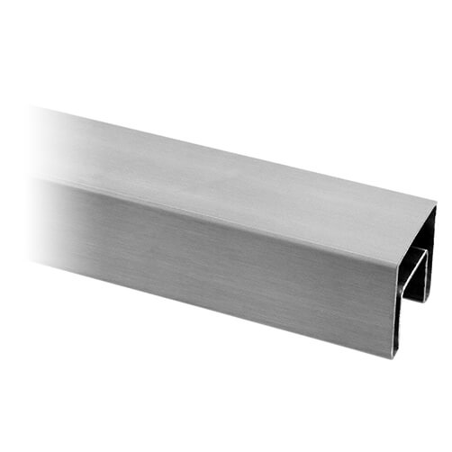 Square Stainless Steel Handrail For Glass Channel Balustrade