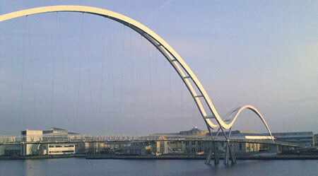 Infinity Bridge - Stockton On Tees - Tension wire balustrade infill