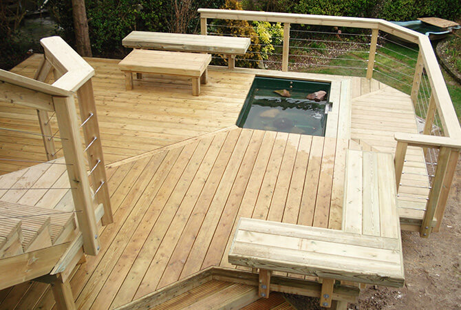Decking Project with Balustrade Wire