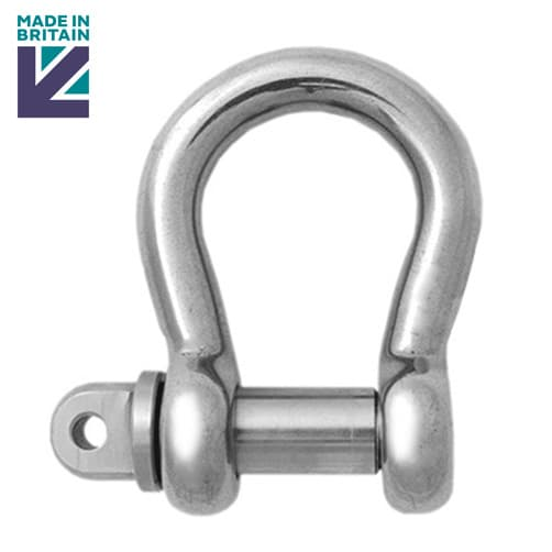Stainless Steel Lifting Bow Shackle - PH High Tensile - Standard Pin
