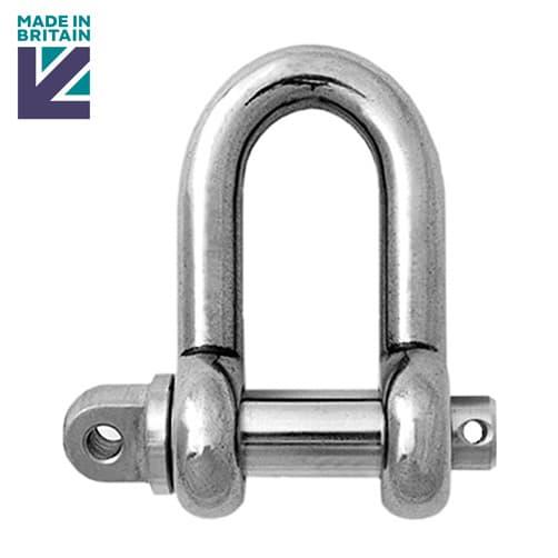 Stainless Steel Lifting Shackle - PH High Tensile - Long Safety Pin