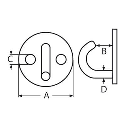 Round Hook Deck Plate - Diagram
