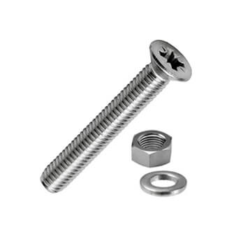 Pozi Countersunk Machine Screw with Nut and Washer