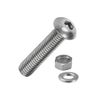 Allen Button Head Machine Screw with Nut and Washer