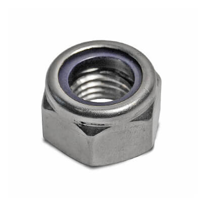 Self Locking Nut >> M5 Self Locking Nylon Nut Pack Of 100 Stainless Steel